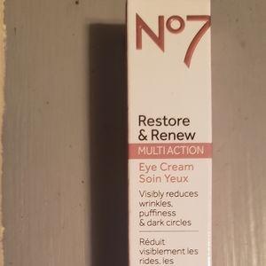 No 7 restore renew multi action  eye cream